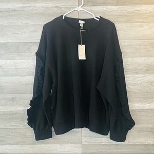 A New Day Sweater Black Pullover Long Sleeve